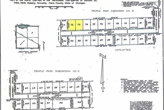 null bed null bath Vacant Land at  Lots 72-73 Linda Dr Harrison, MI, 48625 is for sale at 4k - google static map