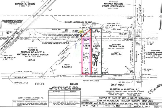null bed null bath Vacant Land at  Feigle Rd Lockport, NY, 14094 is for sale at 50k - google static map