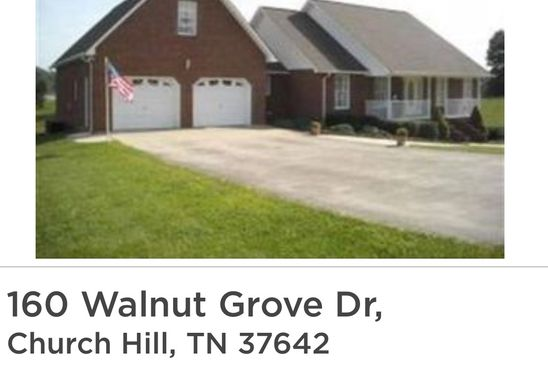 5 bed 4 bath Single Family at 160 WALNUT GROVE DR CHURCH HILL, TN, 37642 is for sale at 290k - google static map