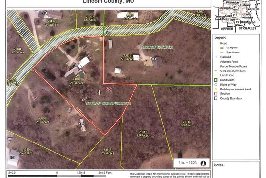 null bed null bath Vacant Land at 128 BLUFFVIEW EST FOLEY, MO, 63347 is for sale at 29k - google static map