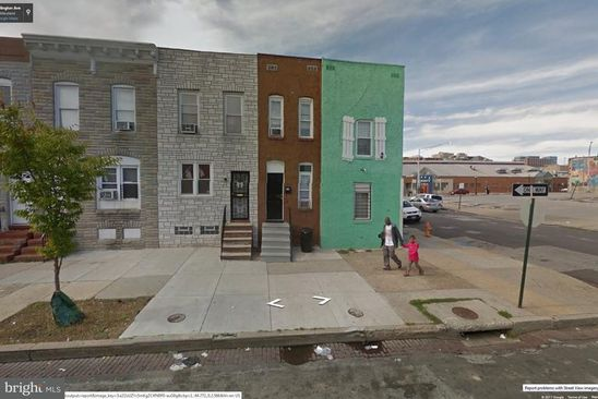 3 bed 1 bath Single Family at 528 N COLLINGTON AVE BALTIMORE, MD, 21205 is for sale at 57k - google static map
