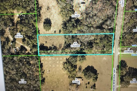 null bed null bath Vacant Land at 16211 Snow Memorial Hwy Brooksville, FL, 34601 is for sale at 50k - google static map