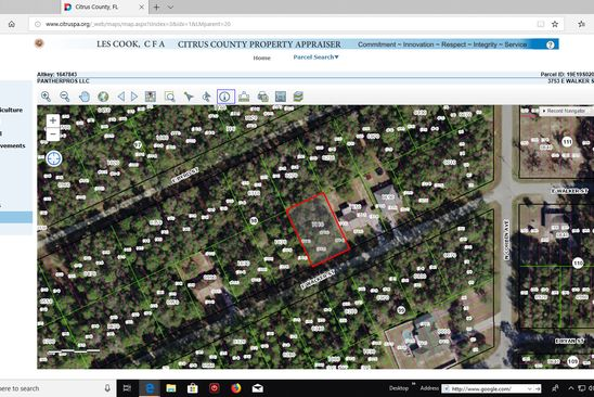 null bed null bath Vacant Land at 3753 E WALKER ST INVERNESS, FL, 34453 is for sale at 3k - google static map