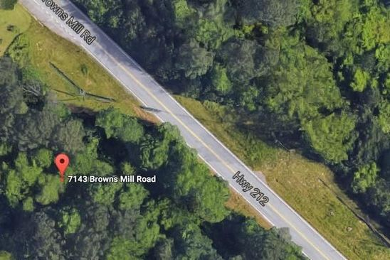 null bed null bath Vacant Land at 7143 Browns Mill Rd Lithonia, GA, 30038 is for sale at 20k - google static map