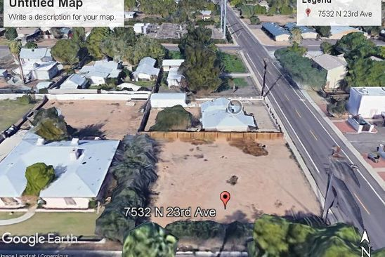 null bed null bath Vacant Land at 7532 N 23RD AVE PHOENIX, AZ, 85021 is for sale at 49k - google static map