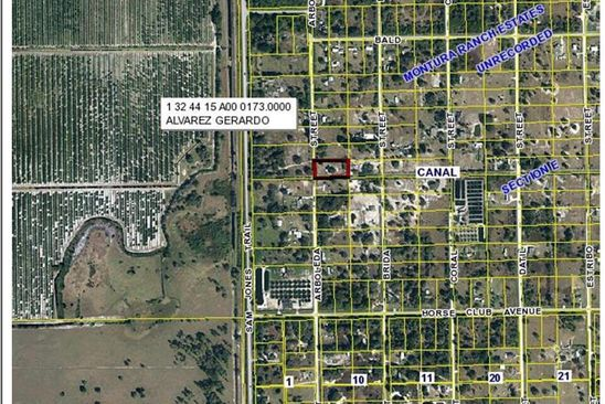 null bed null bath Vacant Land at 615 N ARBOLEDA ST CLEWISTON, FL, 33440 is for sale at 12k - google static map