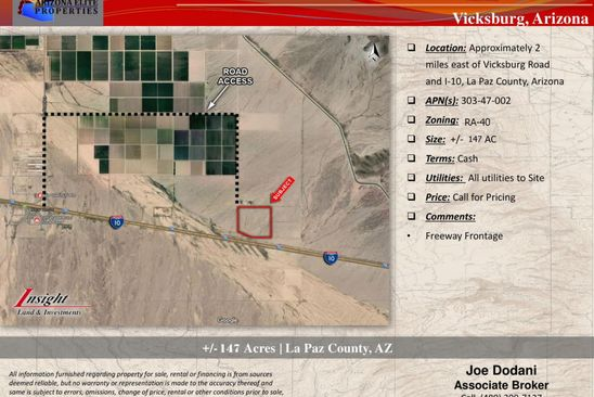 null bed null bath Vacant Land at 60375 56th St Salome, AZ, 85348 is for sale at 1.46m - google static map